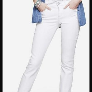 74% off Express Denim - Express white skinny jeans from Morgan&39s