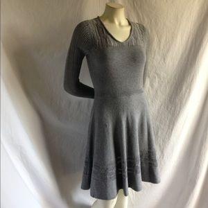 fe9bdc557ab Vera Wang Dresses - Vera Wang S Gray Knit Sweater Dress Fit Flare