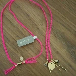 NWT JCREW Neon Pink Gold Necklace