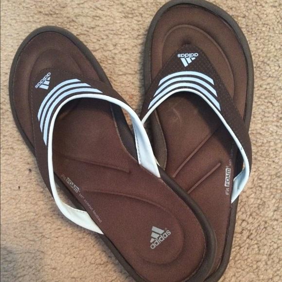 f18d21ad5ba19 Adidas Shoes - Worn twice Adidas gel flip flops