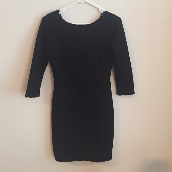 Forever 21 Dresses Classy Long Sleeve Tight Black Dress With Low