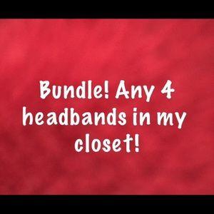 Set of four headbands