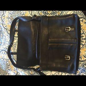86 Off Coach Handbags Coach Briefcase Black Leather