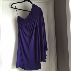 Robert Rodriquez Purple off one shoulder Dress