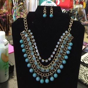 True  Jewelry - True Fashion Statement Necklace Set Earring