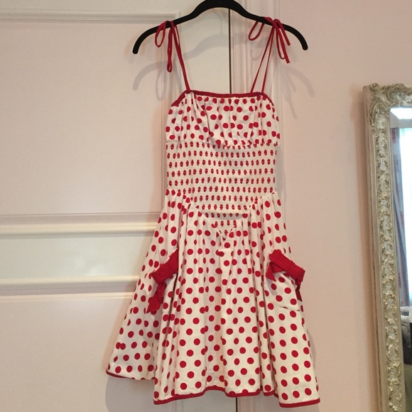 83375a9794522 Betsey Johnson Dresses & Skirts - Betsy Johnson dress. White with red polka  dots.
