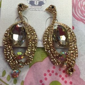 J Prince Jewelry - J Prince Gold Tone Topaz AB Crystal Earrings