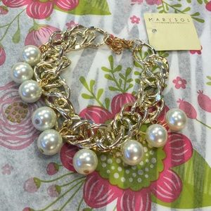Marysol Jewelry - Marysol Gold Tone Fashion Bracelet Faux Pearls