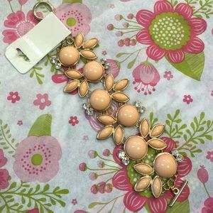 Fashion Beyond Jewelry - Fashion Beyond Peach Bubble Bracelet Goldtone
