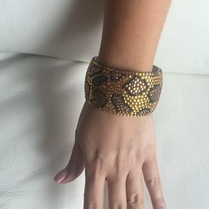 Jewelry - Cheetah rhinestone bracelet cuff