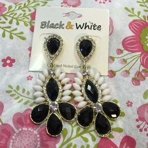 Black and White Jewelry - Black & White Boutique Earrings Aztec Black white
