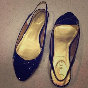 J. Crew Shoes - ⚡️SALE⚡️J. Crew black patent open toe slingback