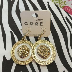 Core Jewelry - Core Lion Face Enamel Boutique Earrings