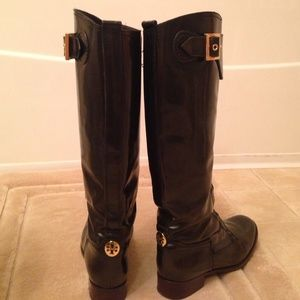 Brown Tory Burch riding boots