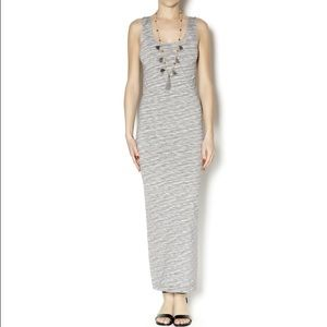 $120 Tees By Tina grey maxi dress-celeb fave!