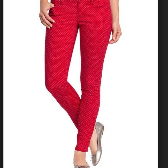 Old navy denim red polka dot rockstar jeans poshmark red polka dot rockstar jeans sisterspd