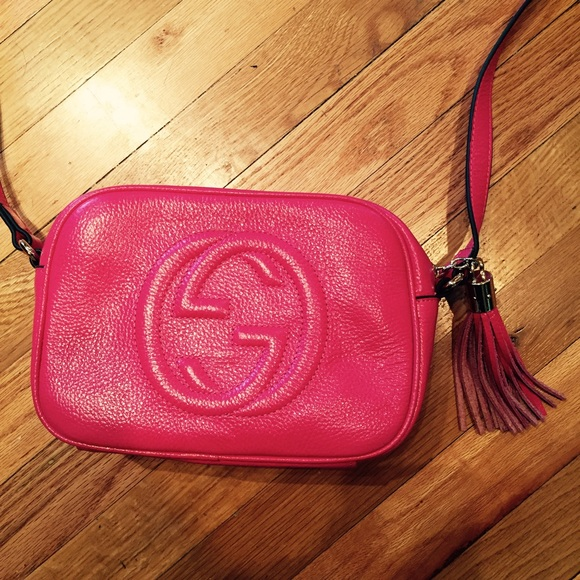 c77b47cdbceb78 Gucci Bags | Hot Pink Soho Disco Crossbody Bag | Poshmark
