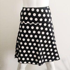 Dresses & Skirts - Black and White Polka Dot Skirt