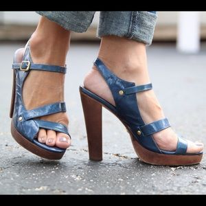 A.B.S. By Alan Schwartz Shoes - Blue strappy heels