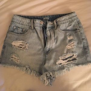 Urban Outfitters High-Waisted Denim Shorts