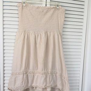 Beige Hi Low Dress