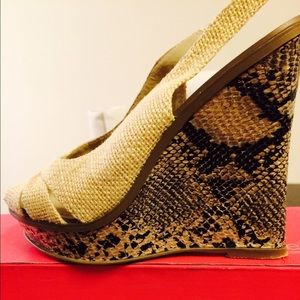 Marco Santi Shoes - Marco Santi Snake print wedges