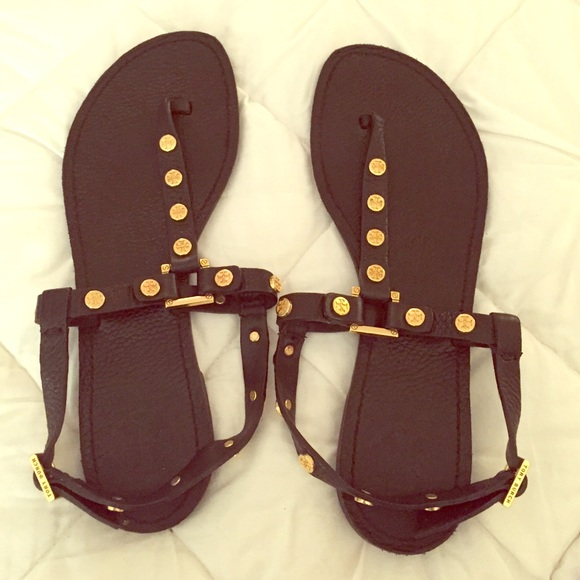 Tory Burch Leather Studded Sandals cheap reliable YgjXqy