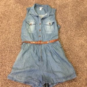 Denim Romper