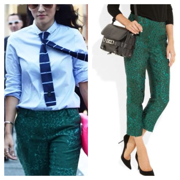 83% off J. Crew Pants - J. Crew cafe jade green dress cropped ...