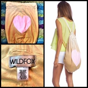 WILDFOX Ombre Heart Bag Purse Tote Backpack