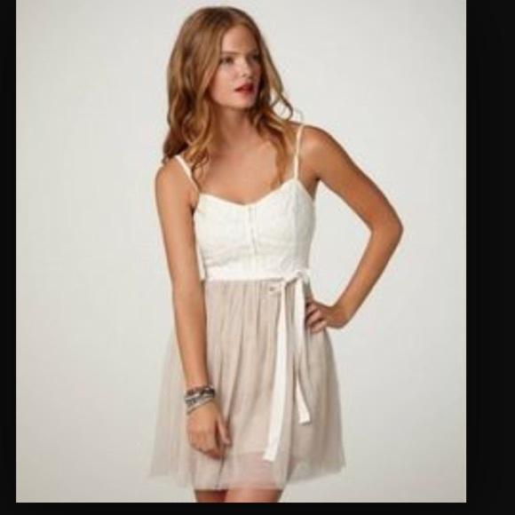 American Eagle lace and tulle dress in cream ad488966e