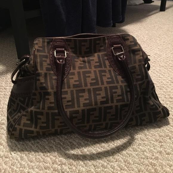 26aa25cb74e6 FENDI Handbags - Fendi Zucca De Jour Tobacco Brown Bag