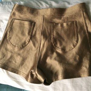 American Apparel Shorts - American Apparel gold disco shorts