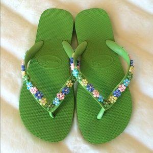 Havaianas Shoes - Beaded Havaianas
