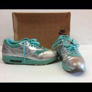 Nike Shoes - Nike Air Max 1 Metallic Silver Mint