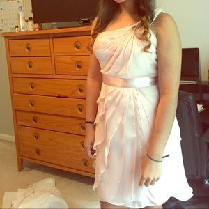 Beautiful blush pink one arm dress only worn once