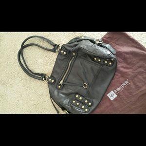 Linea Pelle Black Leather Satchel