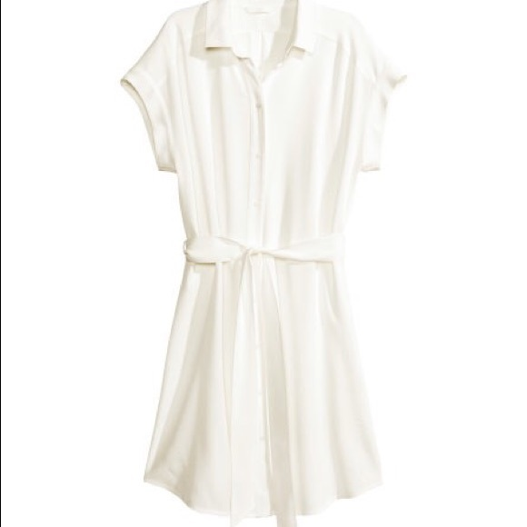 52% off H&M Dresses & Skirts - White H & M shirt dress from ...