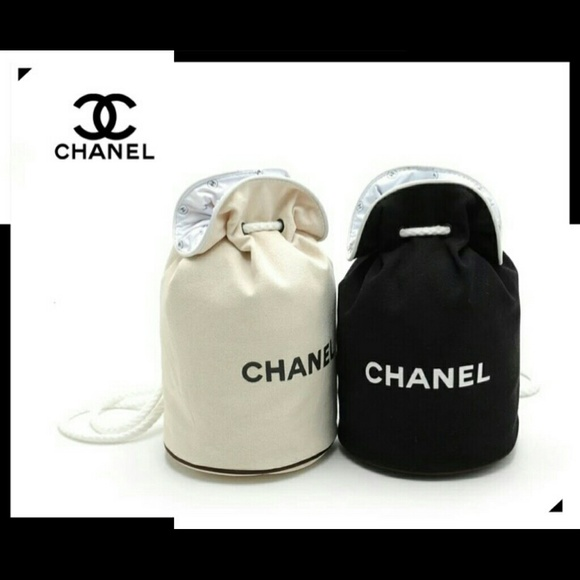 47% off CHANEL Accessories - Chanel bucket drawstring cosmetic bag ...