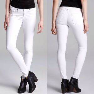 NWT rag & bone bright white legging jeans