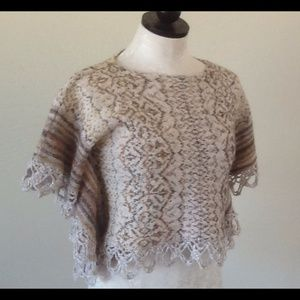 Free People knit cropped top size XS