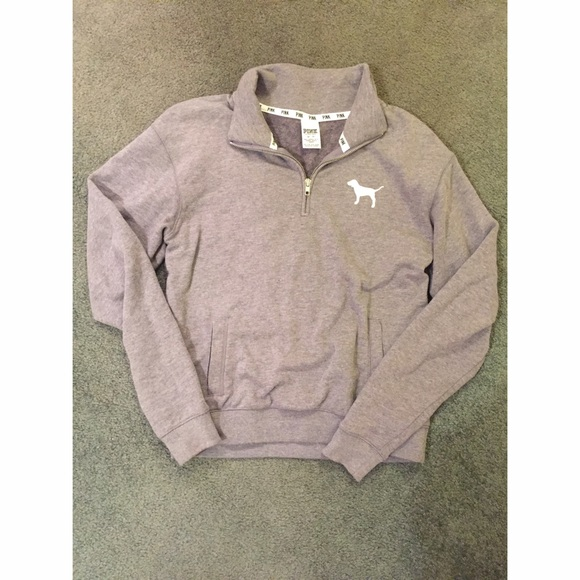 PINK Victoria's Secret - VS Pink Grey Quarter Zip Sweatshirt from ...