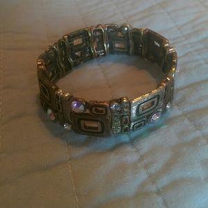 Jewelry - Bronze and crystal bracelet