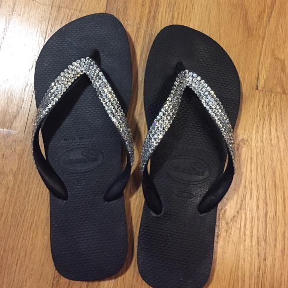 f22713c2e342 Havaianas Shoes - Havaianas Lori Jack Swarovski Crystal Sandals NWOT