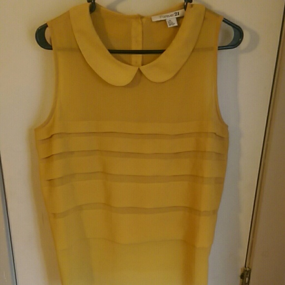 8af9152fec66c Forever 21 Tops - Mustard yellow sleeveless blouse