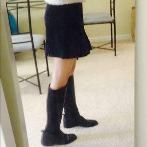 Sisley mini navy skirt