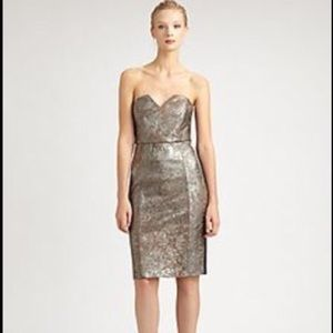 Catherine Malandrino Metallic Leather Pointe Dress