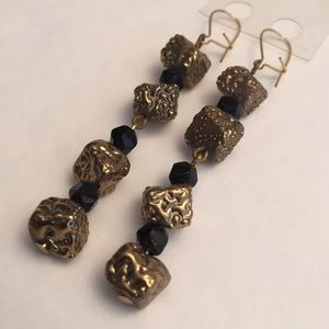 Jewelry - Golden Nugget Drop Earrings