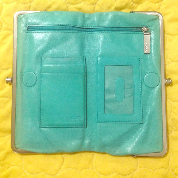 Hobo Bags Lauren Double Frame Wallet Clutch Turquoise Poshmark