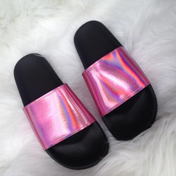 4d055f2941c77 New sixty seven metallic pink slides sandals 8